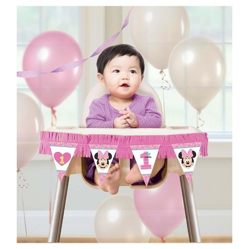 Minnie Mouse 1st Birthday High Chair Kit