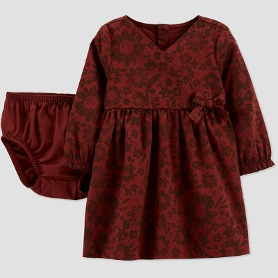 Baby Girls' Floral Dress - Just One You® made by carter's Brown