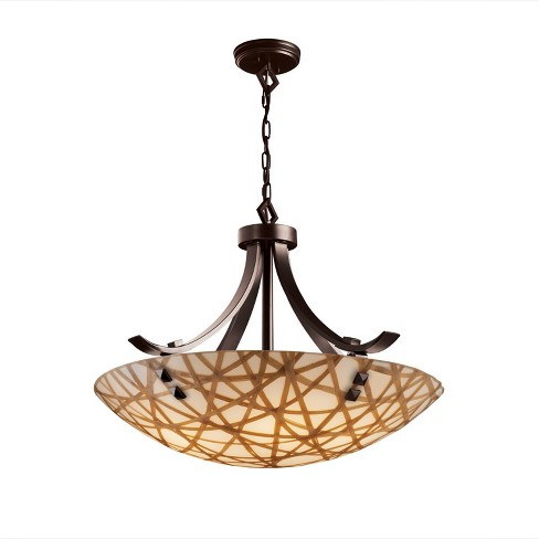 "Justice Design Group 3FRM-9752-35-CONN-F3 3Form 24"" Round Bowl Pendant - image 1 of 2"