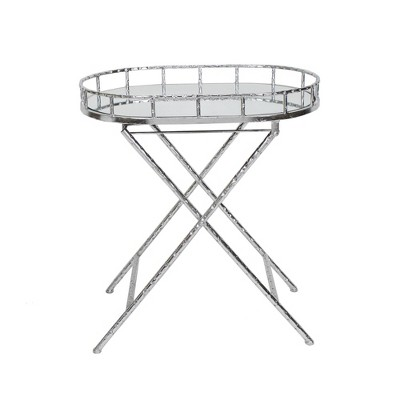 Oval Metal Accent Table Mirror Top - Sagebrook Home