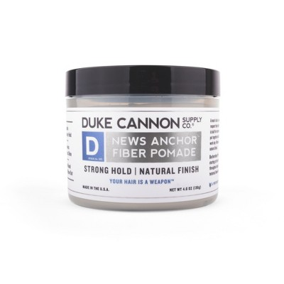 Duke Cannon Fiber Pomade Strong Hold Natural Matte Finish - 4.6oz