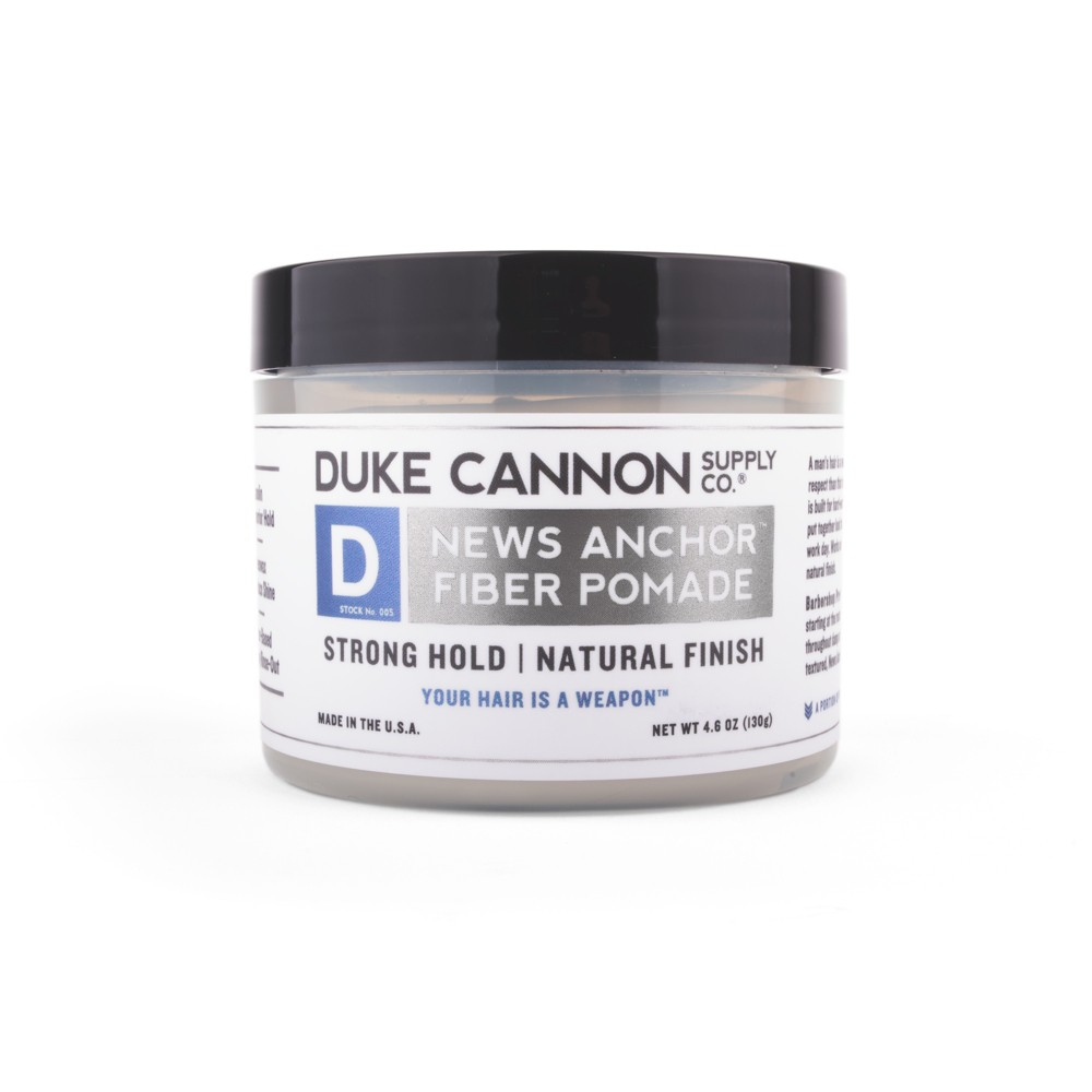 Image of Duke Cannon Fiber Pomade Strong Hold Natural Matte Finish - 4.6oz