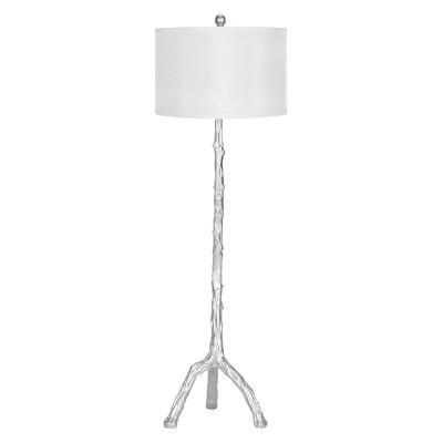 "58"" Branch Floor Lamp Silver (Includes CFL Light Bulb) - Safavieh"