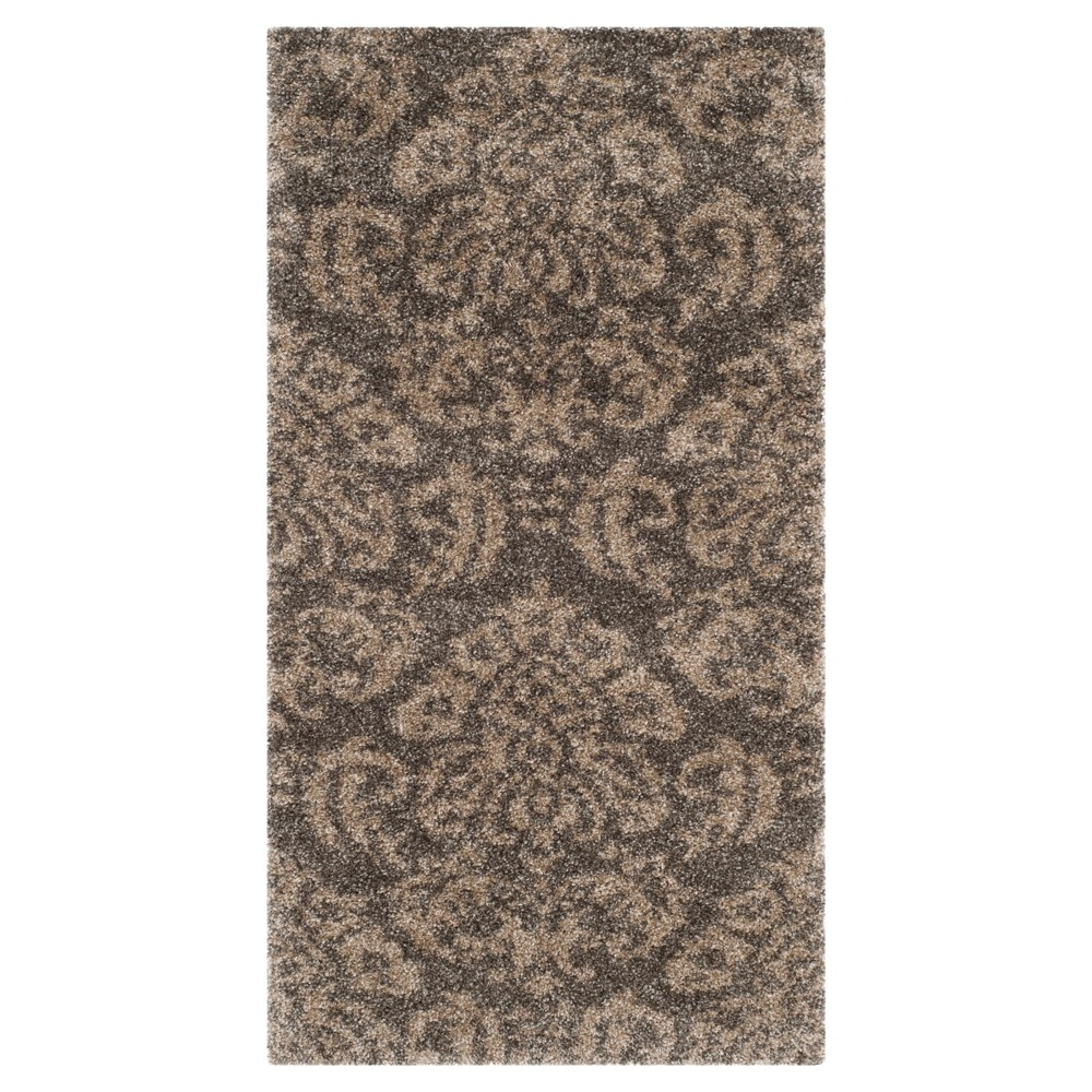 Buy Smoke Beige Abstract Loomed Accent Rug - (33x53) - Safavieh