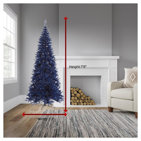 7.5ft Pre-Lit Artificial Christmas Tree Navy Blue Fir - With 500 Blue LED  Lights : Target - 7.5ft Pre-Lit Artificial Christmas Tree Navy Blue Fir - With 500