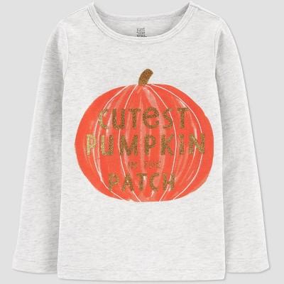 Toddler Girls' 'Cutest Pumpkin' T-Shirt - Just One You® made by carter's Orange/Gray