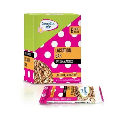 Sweetie Pie Organics Oats & Almond Lactation Bar - 6pk