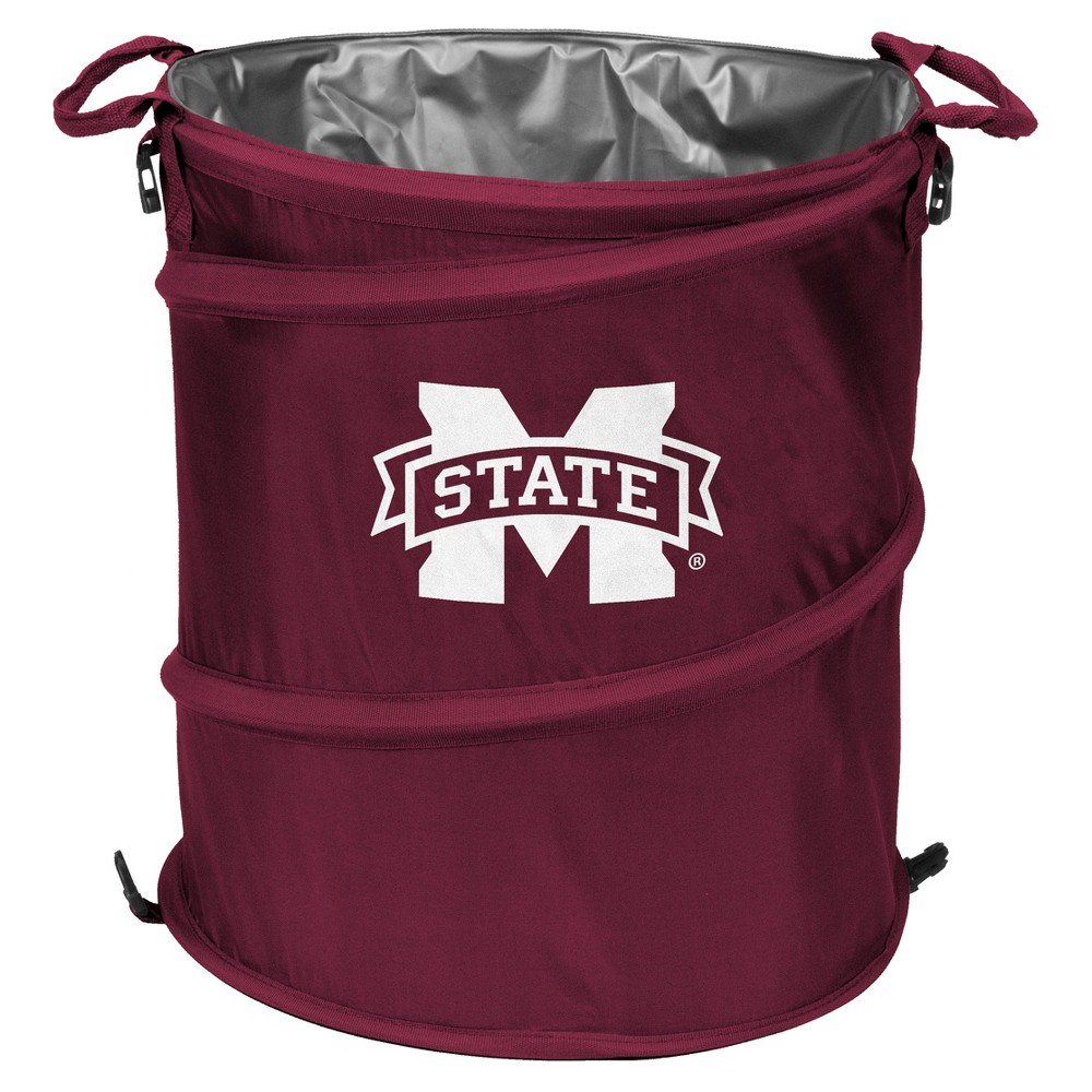 NCAA Mississippi State Bulldogs Logo Brands 3-in-1 Collapsible Cooler / Trash Can / Hamper