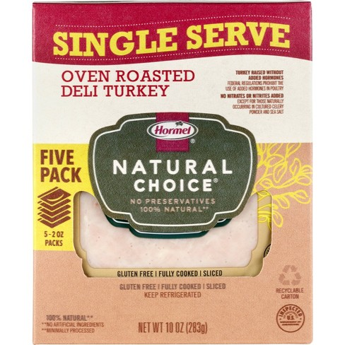Hormel Natural Choice Sliced Oven Roasted Deli Turkey - 5pk/10oz - image 1 of 1