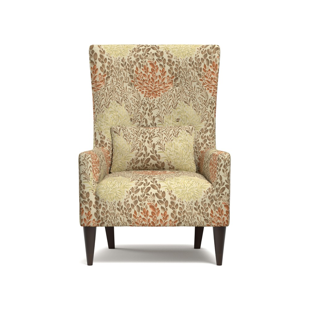Orilla Shelter High Back Wing Chair - Orange - Handy Living