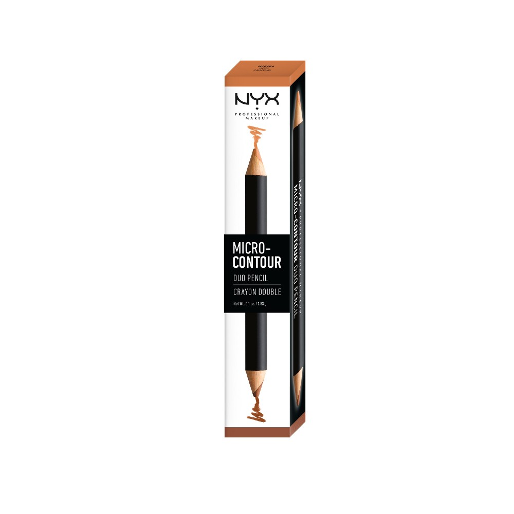 Nyx Professional Makeup Micro-Contour Duo Pencil Medium Deep - 0.2oz
