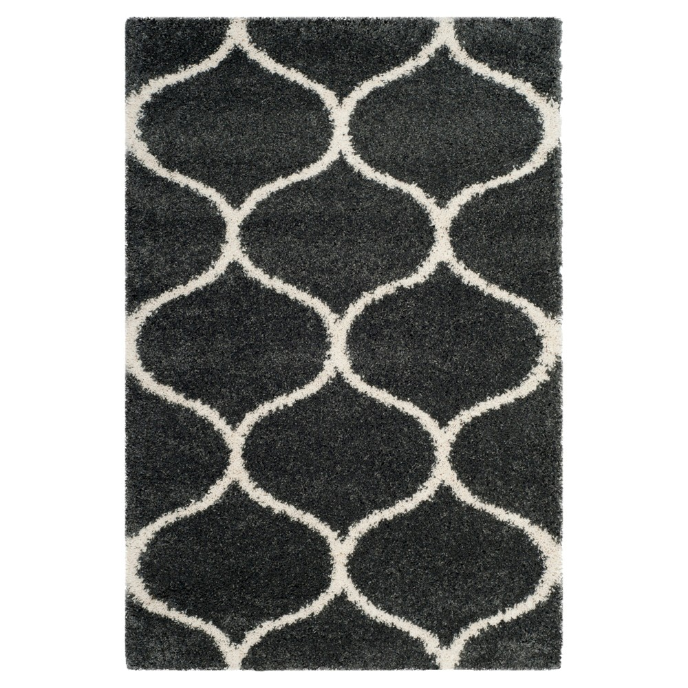 Dark Gray/Ivory Abstract Loomed Area Rug - (4'X6') - Safavieh