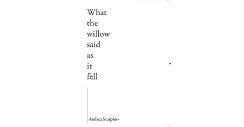 What the Willow Said As It Fell (Paperback) (Andrea Scarpino) - image 1 of 1