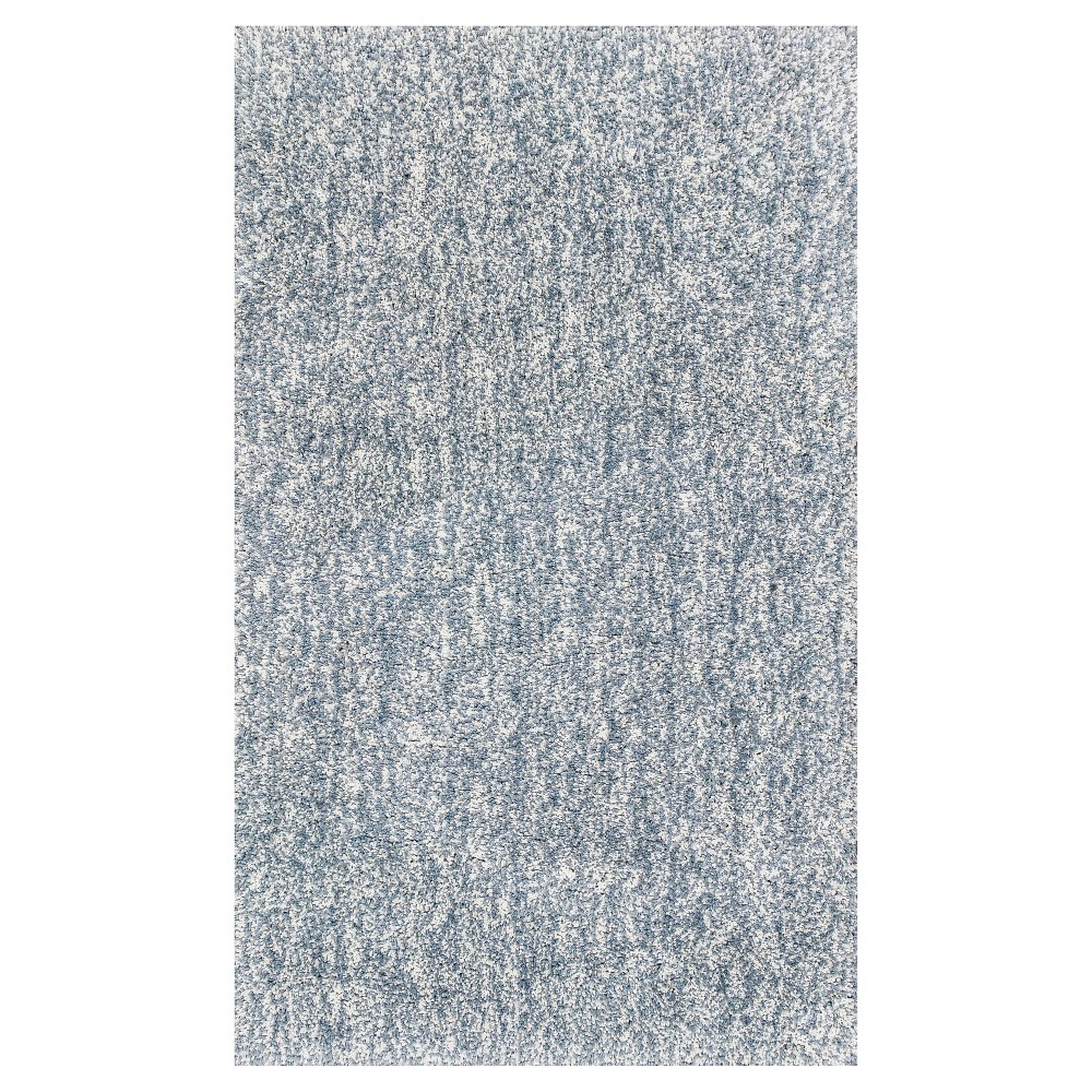 Gray Solid Woven Area Rug 7'6