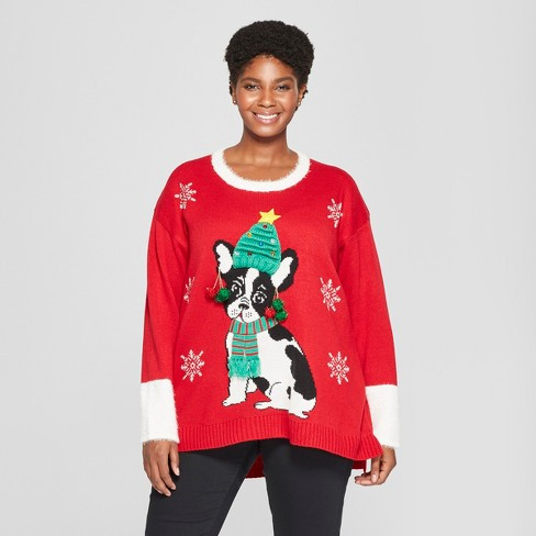 3x Ugly Christmas Sweater.Women S Plus Size Dog Christmas Ugly Sweater 33 Degrees Juniors Red 3x