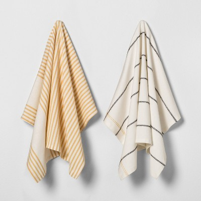 2pk Kitchen Towel Yellow - Hearth & Hand™ with Magnolia