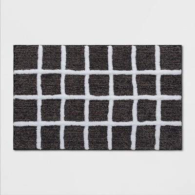 Windowpane Bath Rug Black/White - Project 62™
