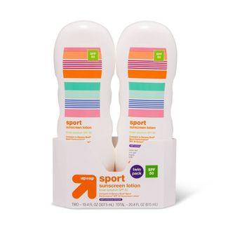 Sport Lotion - SPF 50 - 2pk/20.8 fl oz - Up&Up™