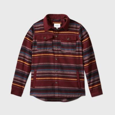 Men's Big & Tall Striped Shirt Jacket - Goodfellow & Co™