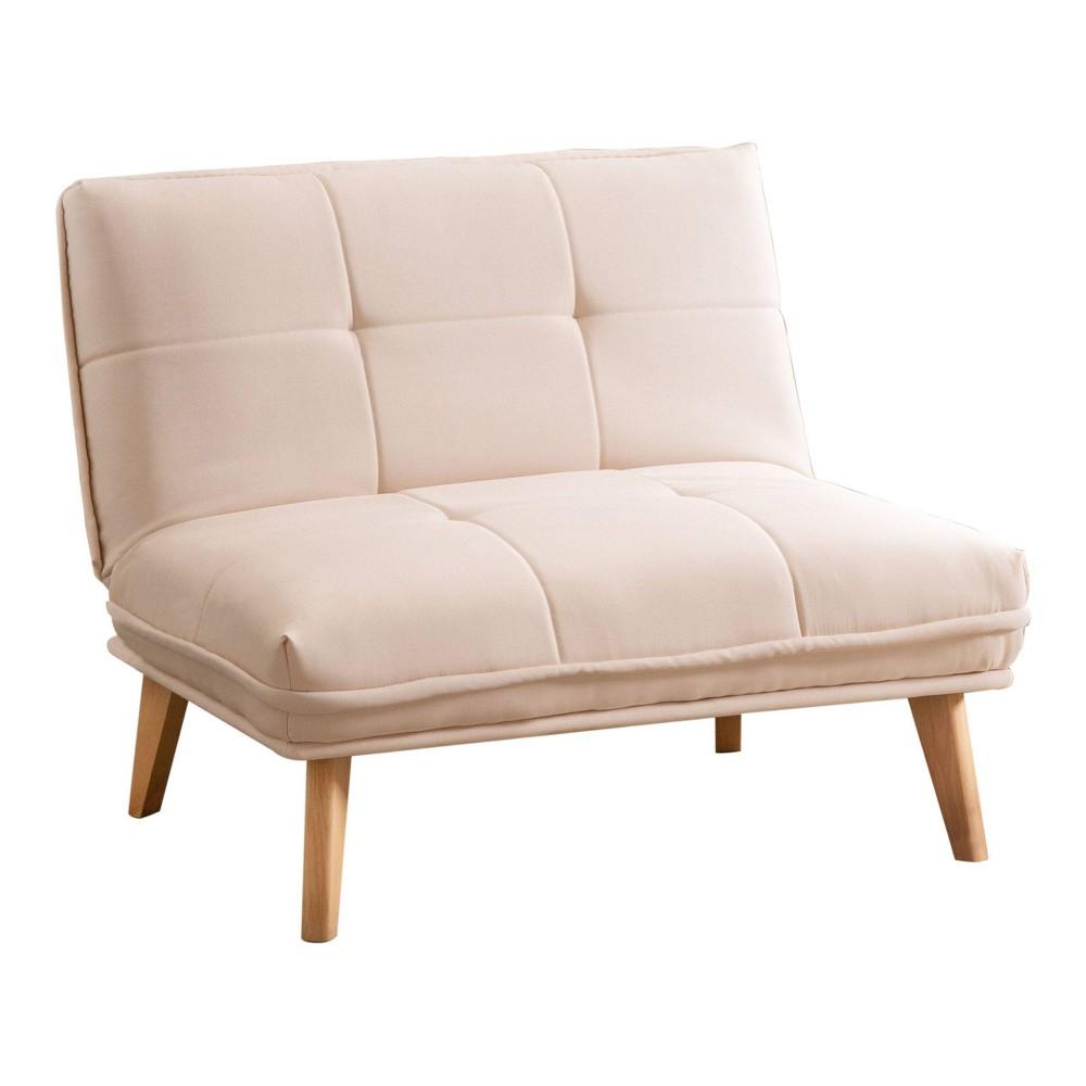 Toronto Fabric Convertible Chair Ivory - Abbyson Living