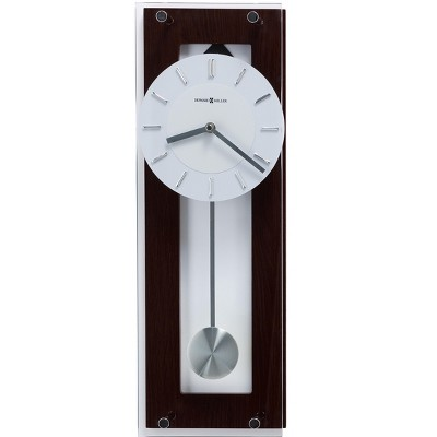 Howard Miller Emmett Contemporary Wall Clock 625-514 – Modern & Round with Pendulum & Quartz Movement
