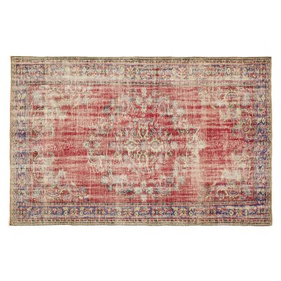 """6'4""""x9'8"""" Vintage One-of-a-Kind Ritienne Rug Red - Revival Rugs"""
