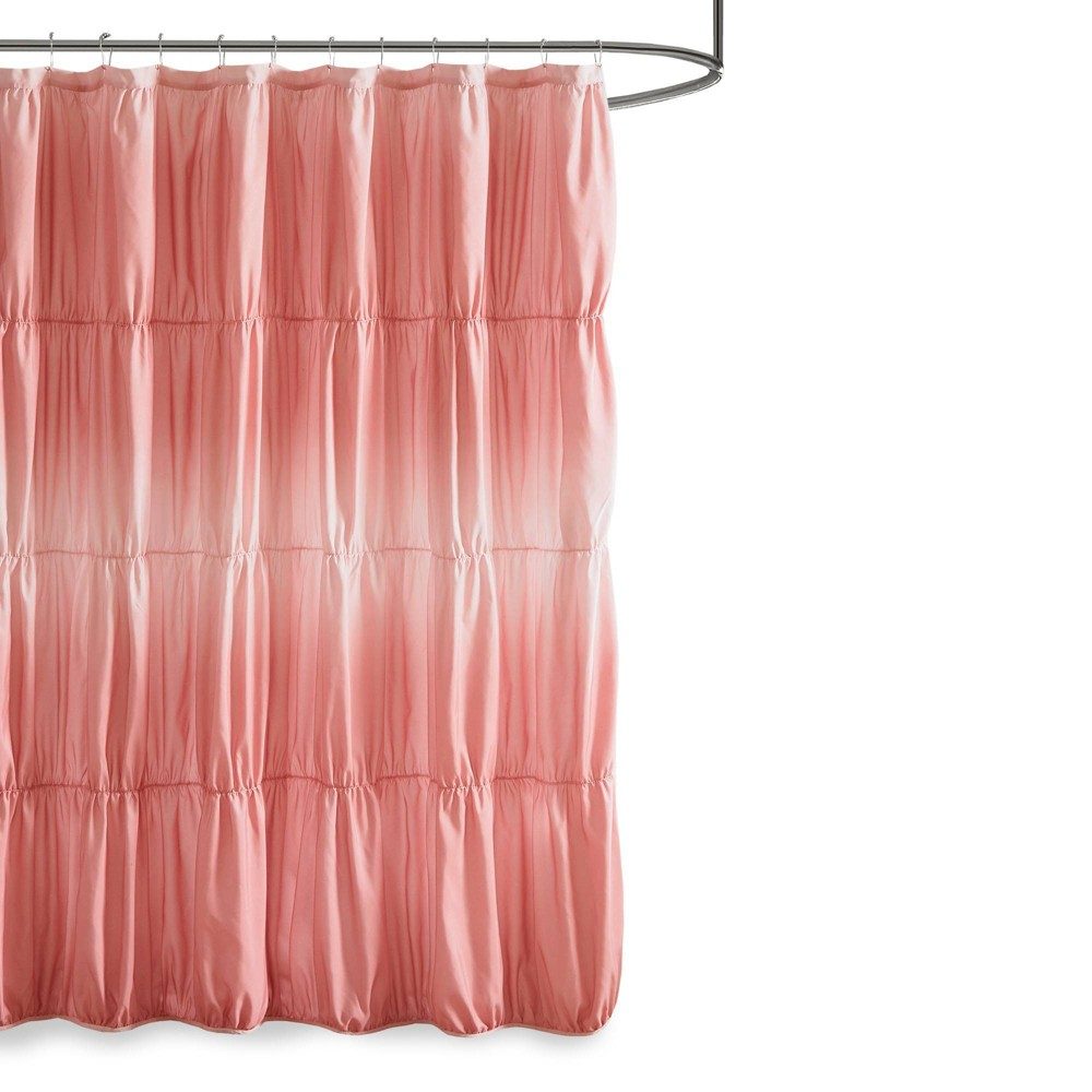 """Image of """"72""""""""x72"""""""" Lydia Ruched Ombre Print Shower Curtain Blush"""""""