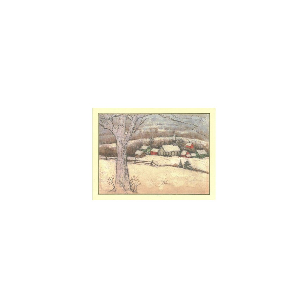 Snowy Village Deluxe Holiday Cards - (Stationery) Snowy Village Deluxe Holiday Cards - (Stationery)