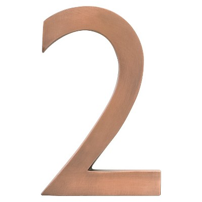 """Architectural Mailboxes 4"""" House Numbers - Antique Copper"""