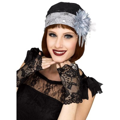 Fun World Flapper Cloche and Gloves Set