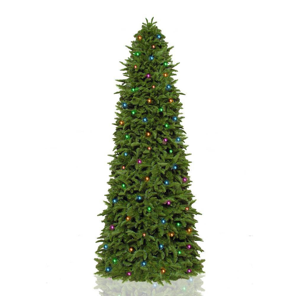 Image of 7.5ft Pre-lit LED Slim Natural Grand Artificial Christmas Tree - Easy Treezy, Green