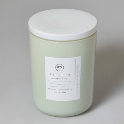 16oz Wellness Spa/Refresh Eucalyptus and Sage Candle - DW Home