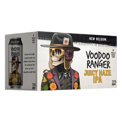 New Belgium Voodoo Ranger Juicy Haze IPA Beer - 6pk/12 fl oz Cans