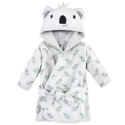 Hudson Baby Infant Unisex Cotton Rich Bathrobe, Koala, 0-9 Months