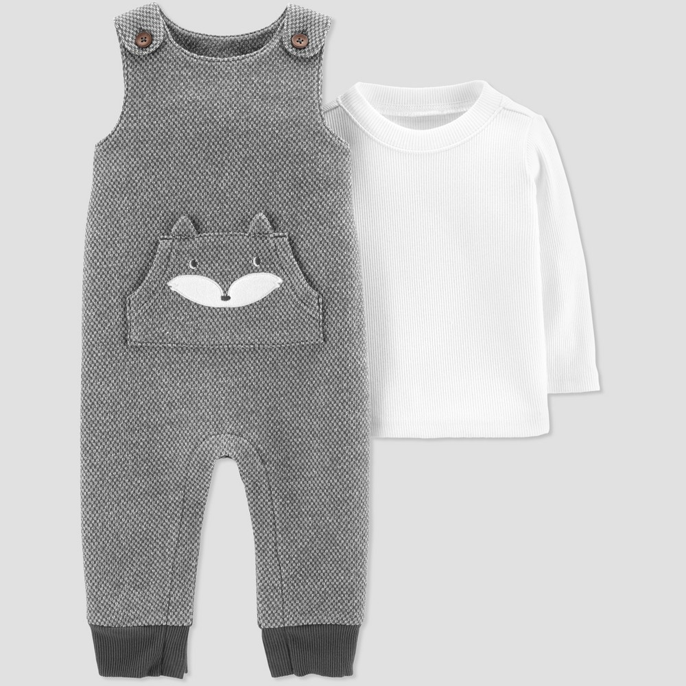 Baby Boys' Fox Overall Set - Just One You made by carter's Gray 6M