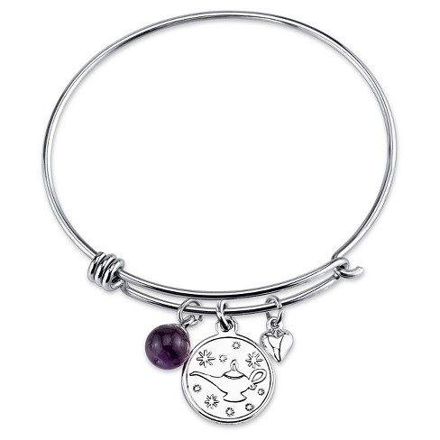 "Women's Stainless Steel A whole new world to discover Aladdin Wire Bracelet - Silver (8"") - image 1 of 2"