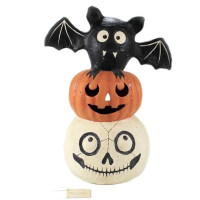 "Halloween 18.75"" Halloween Totem Pole Bat Pumpkin Mummy  -  Decorative Figurines"
