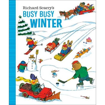 Richard Scarry's Busy Busy Winter - (Board Book)