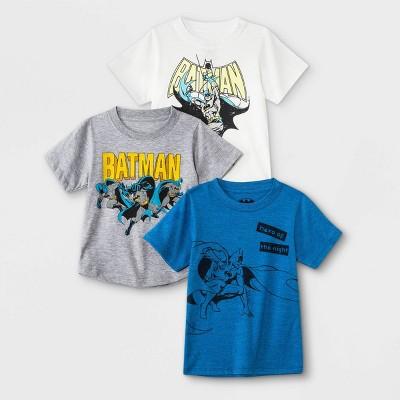 Toddler Boys' 3pc Batman Short Sleeve Graphic T-Shirt