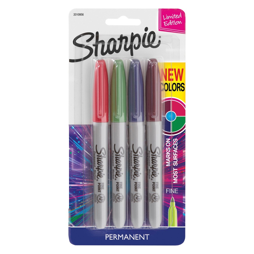 Sharpie 4ct Permanent Markers Cosmic Colors, Multi-Colored
