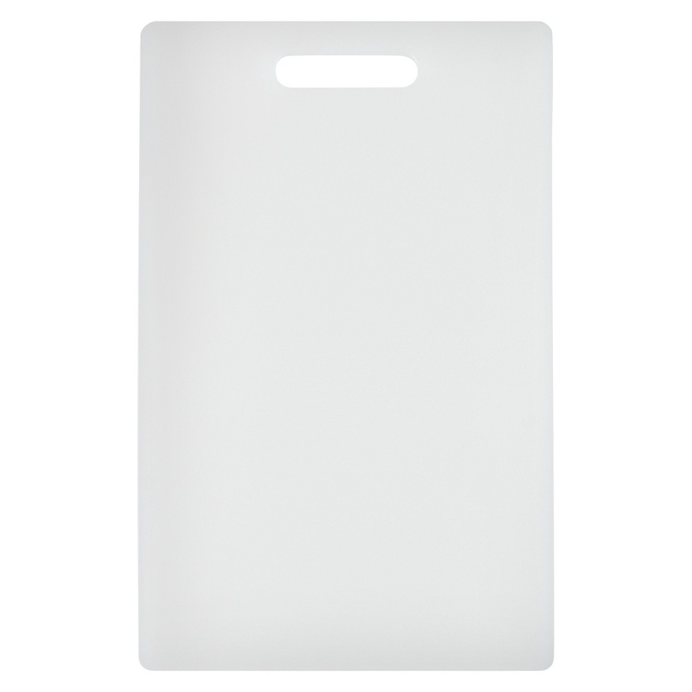 Image of Dexas 9.5x15 Nsf Polysafe Cutting Board with Handle - White