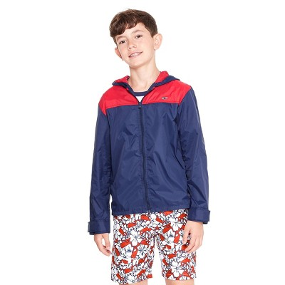 Boys' Light Weight Color Blocked Jacket   Red/Navy   Vineyard Vines® For Target by Red/Navy