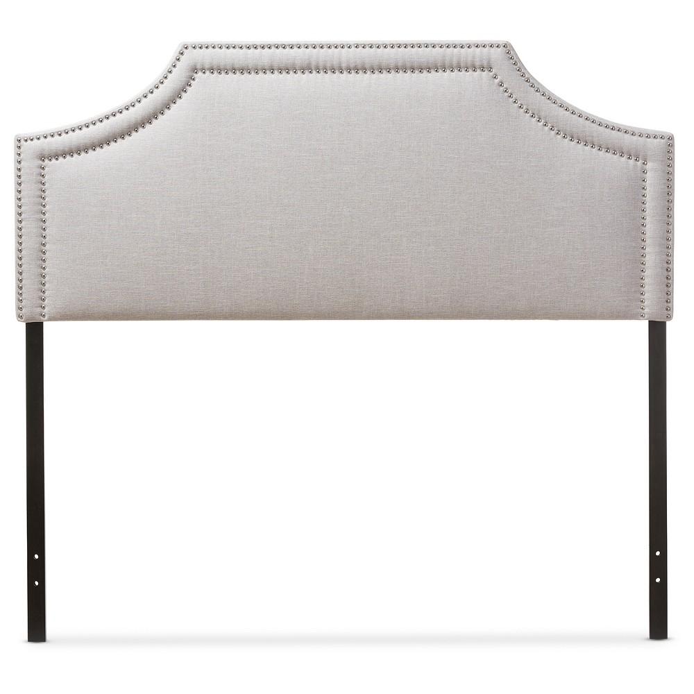 Avignon Modern Fabric Upholstered Headboard King Greyish Beige - Baxton Studio, Light Beige