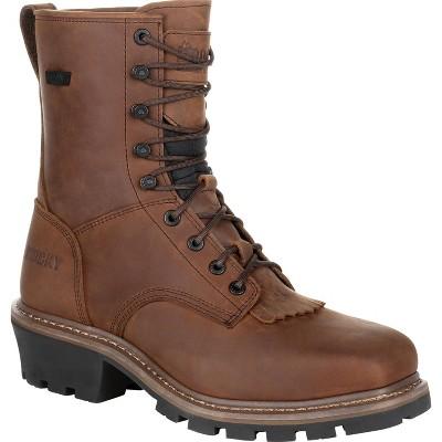 Men's Rocky Square Toe Logger Composite Toe Waterproof Work Boot