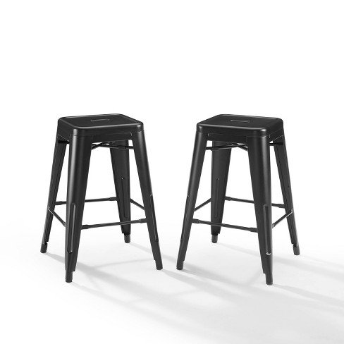 Groovy 24 Set Of 2 Amelia Counter Height Bar Stool Matte Black Crosley Ibusinesslaw Wood Chair Design Ideas Ibusinesslaworg