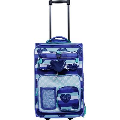Crckt 18  Kids' Carry On Suitcase - Blue Heart