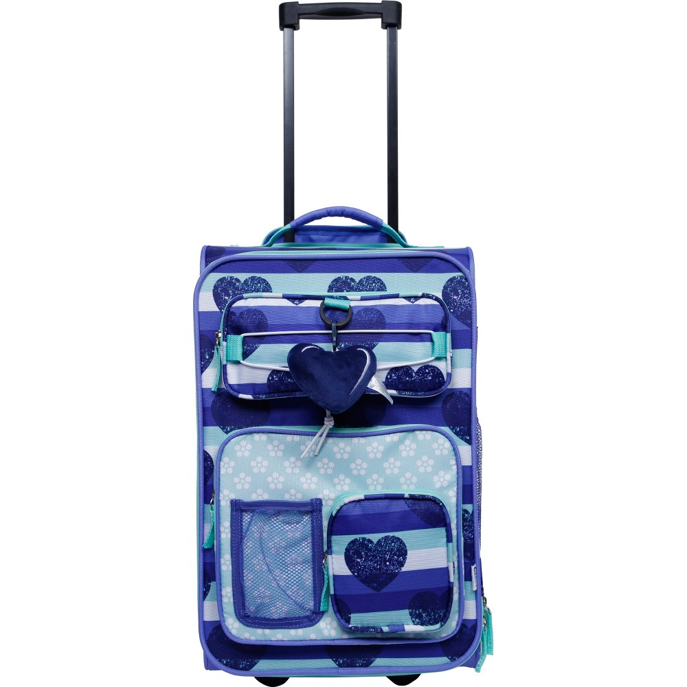 """Image of """"Crckt 18"""""""" Kids' Carry On Suitcase - Blue Heart, Girl's"""""""