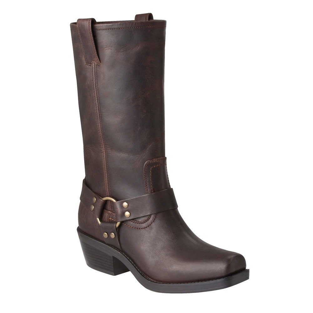 Women S Katherine Genuine Leather Engineer Boots Brown 7 5