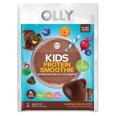 Olly Kids Protein Single Serve Vegan Smoothie Mix - Chipper Chocolate - 1.1oz