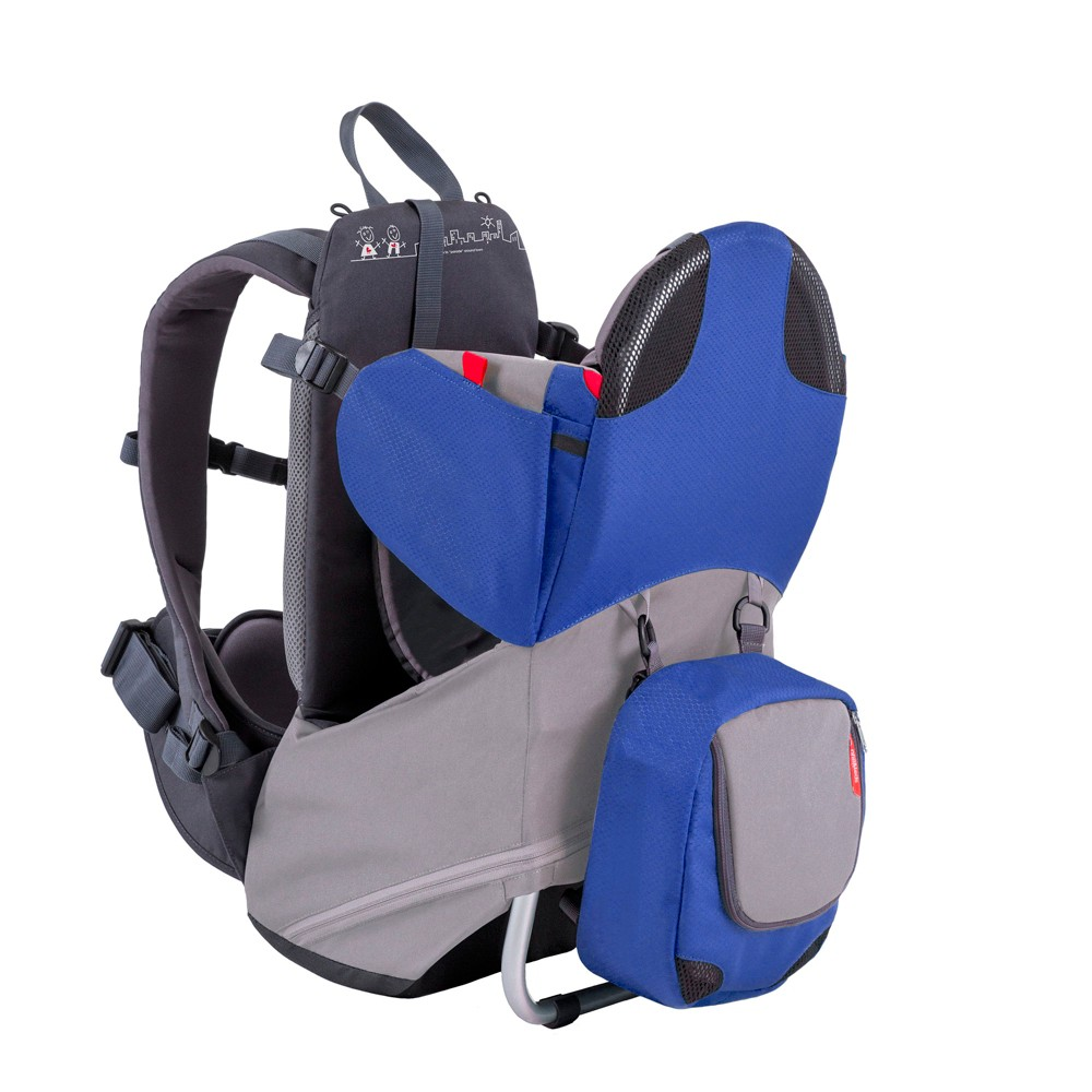 phil&teds Backpack Carriers Blue The parade backpack carrier gives you freedom for the city streets. Designed to maximize your family outings, parade is strong enough to carry children up to 40lbs, folds flat to easily carry on a plane and is lightweight. Packed with ergonomic features to allow you to stride freely, parade has the comfort of active-ergo fit shoulder and hip belts as well as a secure and supportive child harness. Color: Blue.